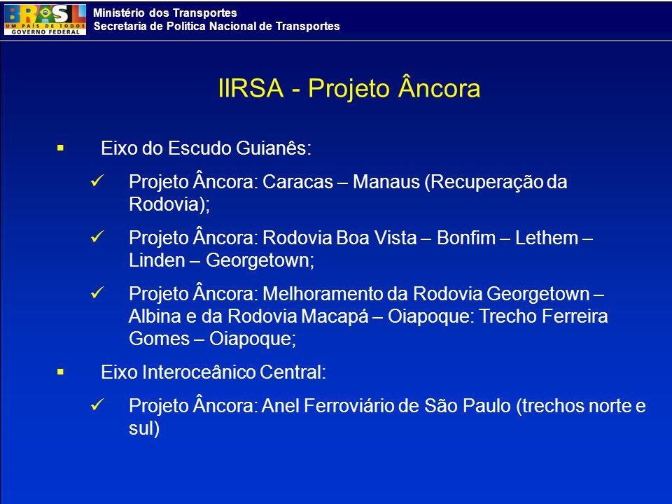 IIRSA - Projeto Âncora Eixo do Escudo Guianês:
