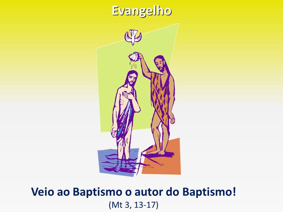 Veio ao Baptismo o autor do Baptismo!