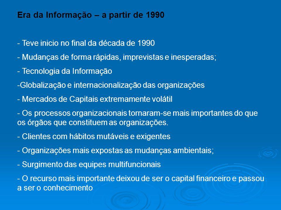 Era da Informação – a partir de 1990
