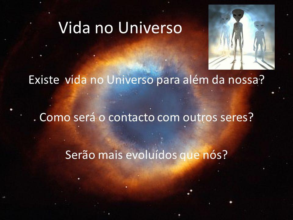 Vida no Universo Existe vida no Universo para além da nossa.