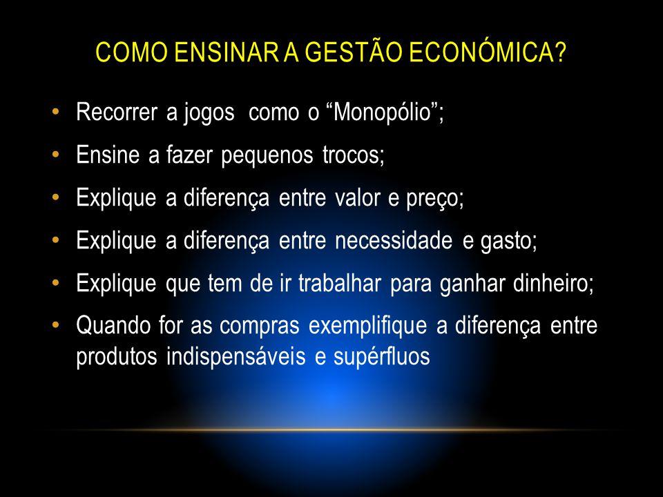 Como ensinar a gestão económica