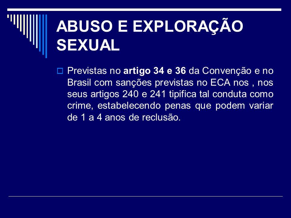 ABUSO E EXPLORAÇÃO SEXUAL