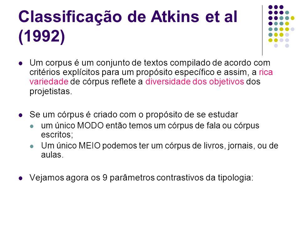 Classificação de Atkins et al (1992)