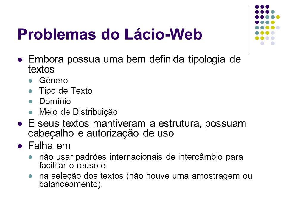 Problemas do Lácio-Web