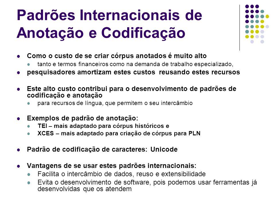 Padrões Internacionais de Anotação e Codificação
