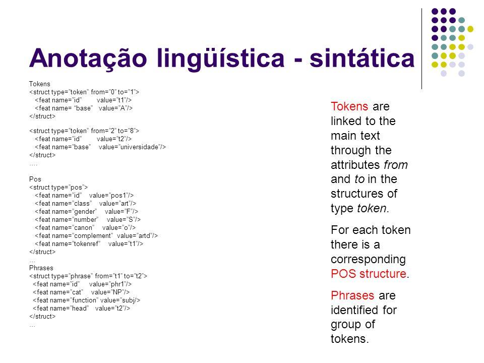 Anotação lingüística - sintática