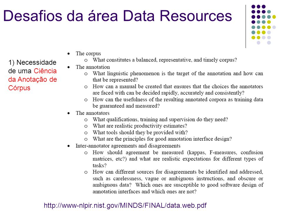 Desafios da área Data Resources