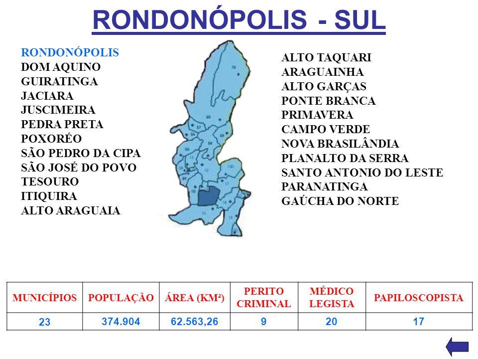 RONDONÓPOLIS - SUL RONDONÓPOLIS ALTO TAQUARI DOM AQUINO ARAGUAINHA