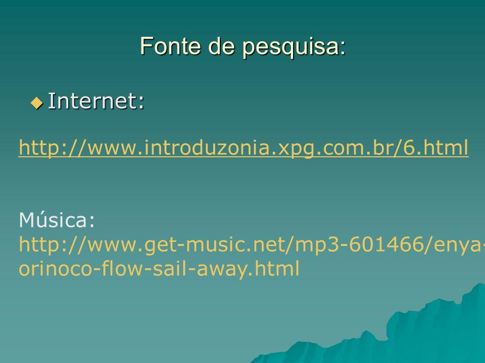 Fonte de pesquisa: Internet: http://www.introduzonia.xpg.com.br/6.html