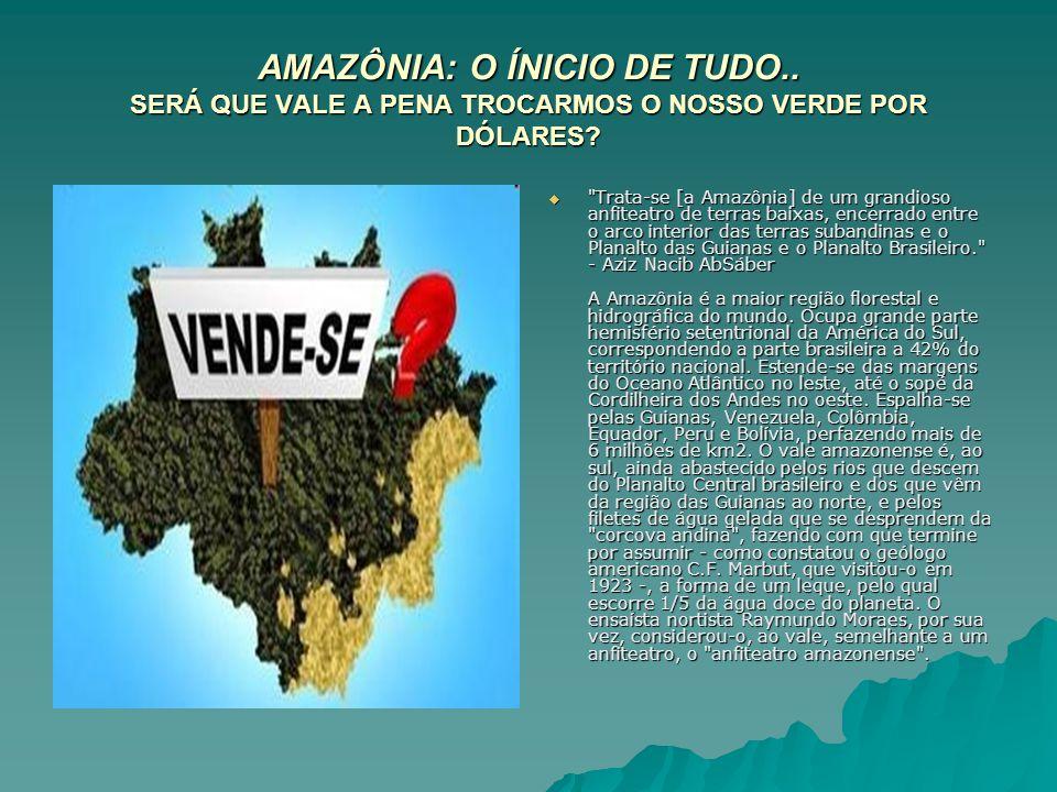 AMAZÔNIA: O ÍNICIO DE TUDO