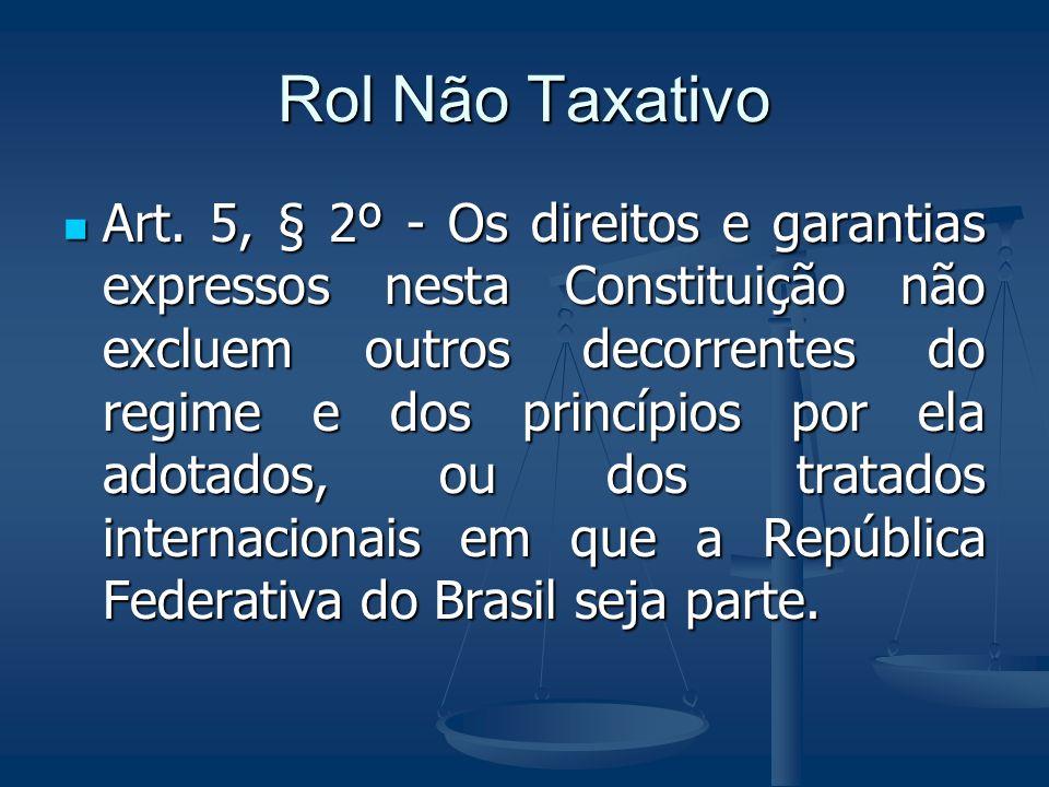 Rol Não Taxativo