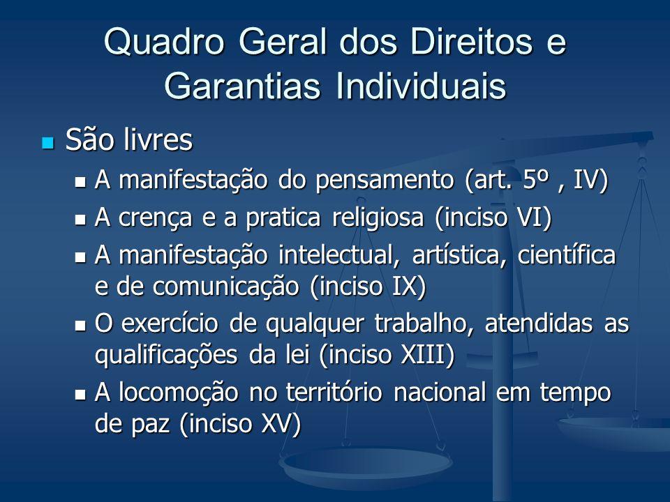 Quadro Geral dos Direitos e Garantias Individuais
