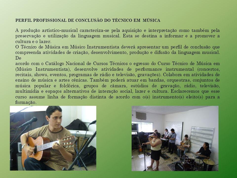 PERFIL PROFISSIONAL DE CONCLUSÃO DO TÉCNICO EM MÚSICA
