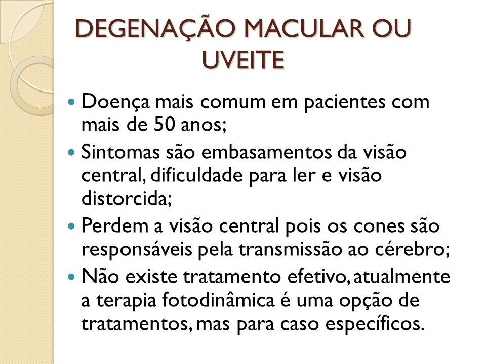 DEGENAÇÃO MACULAR OU UVEITE