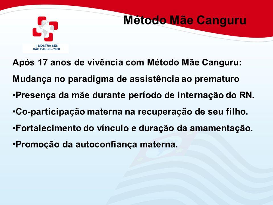 Método Mãe Canguru Após 17 anos de vivência com Método Mãe Canguru: