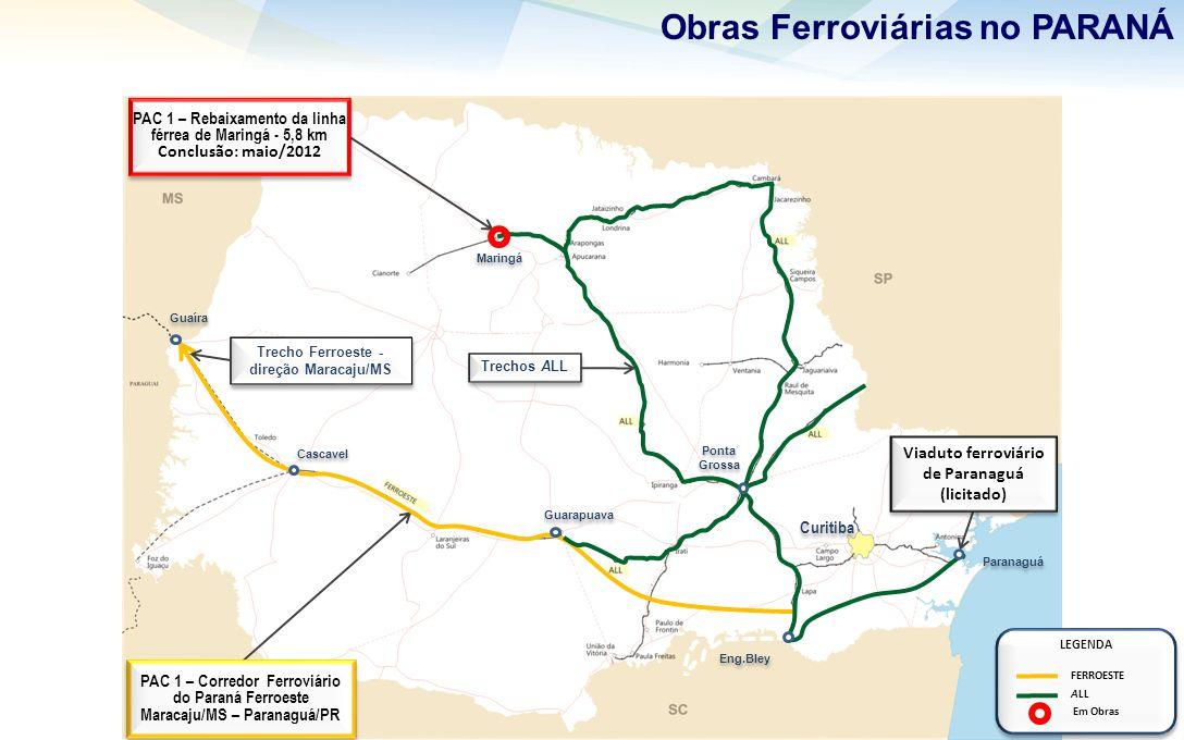 Obras Ferroviárias no PARANÁ