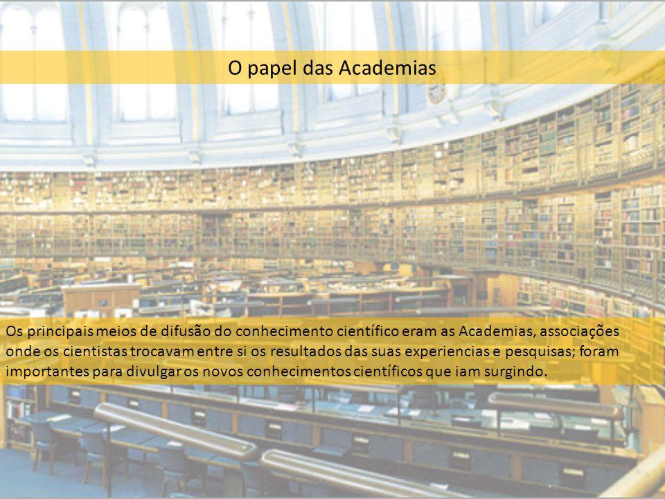 O papel das Academias