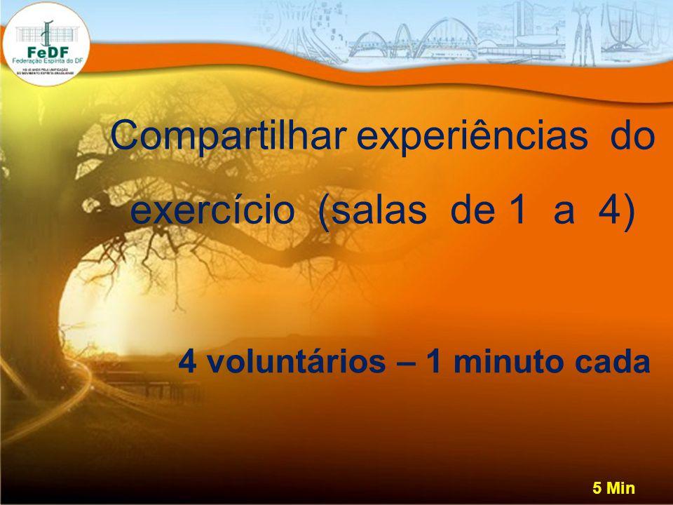 4 voluntários – 1 minuto cada