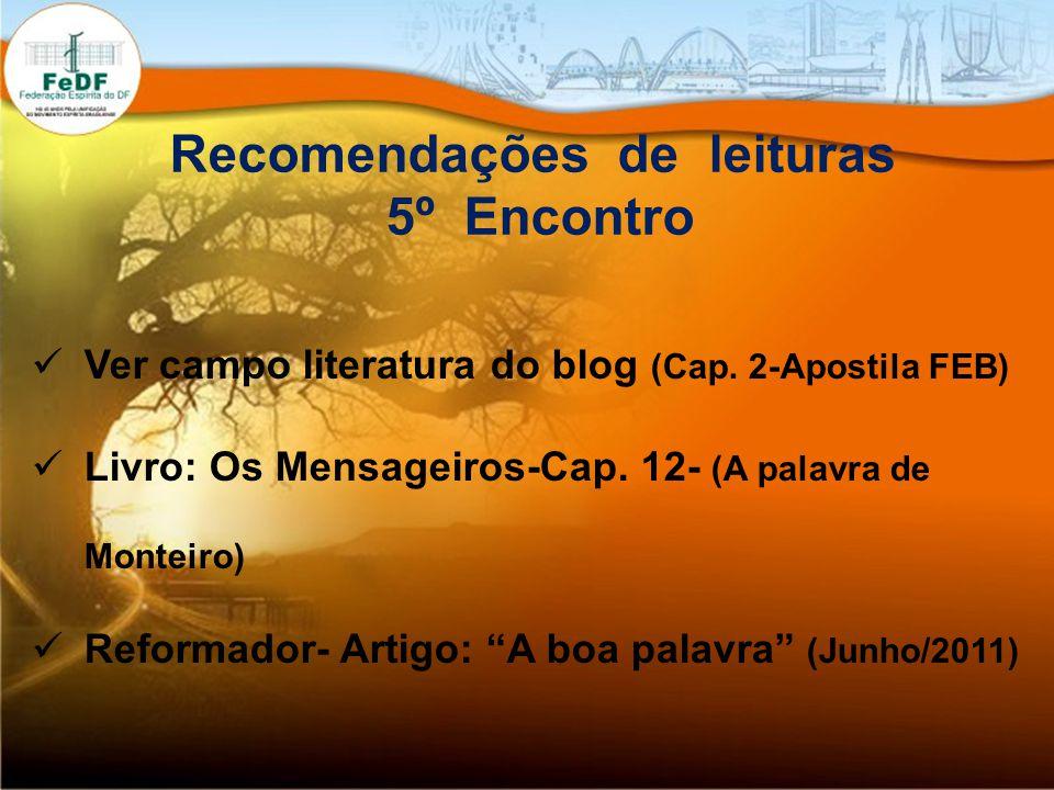 Recomendações de leituras