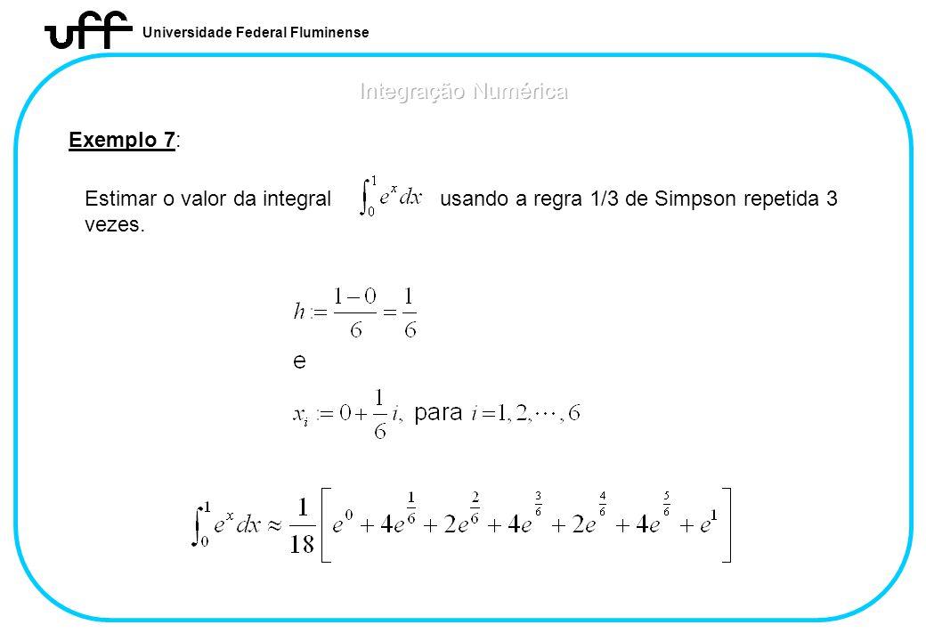 Integração Numérica Exemplo 7:
