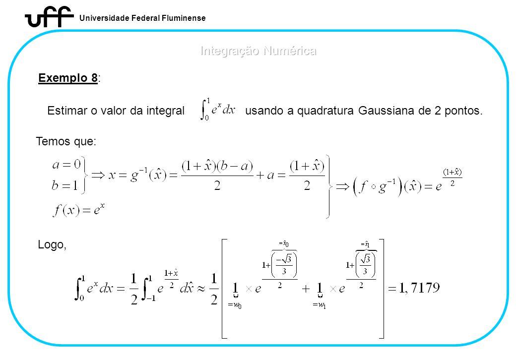 Integração Numérica Exemplo 8: