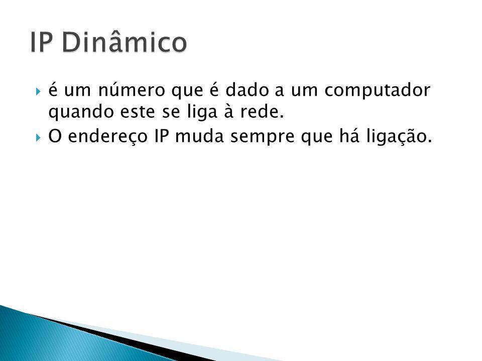 IP Dinâmico é um número que é dado a um computador quando este se liga à rede.