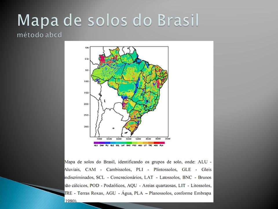 Mapa de solos do Brasil método abcd
