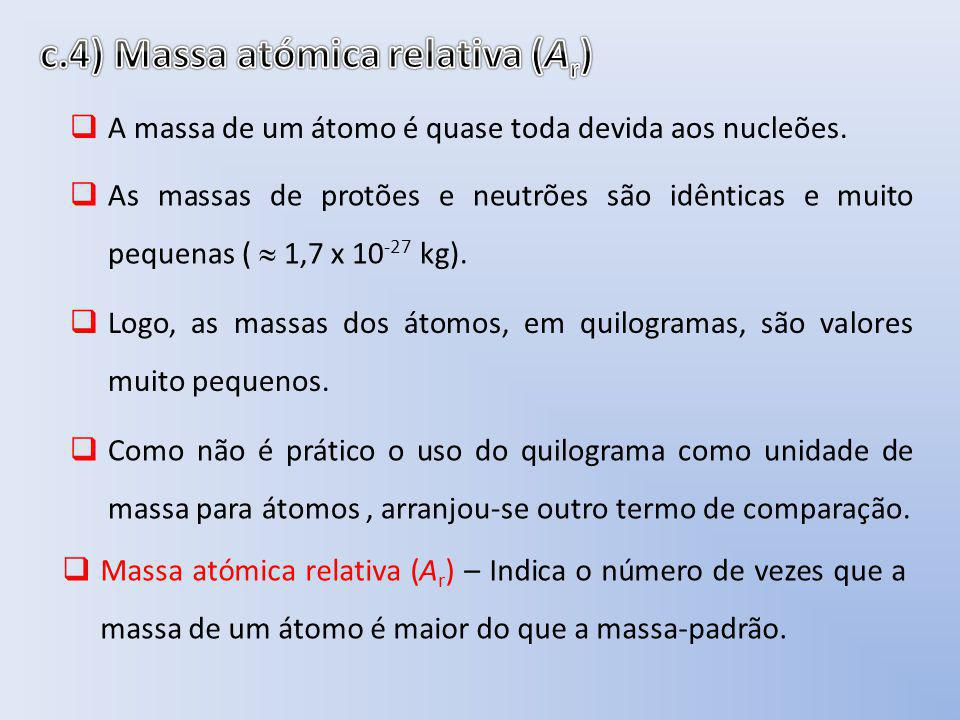 c.4) Massa atómica relativa (Ar)