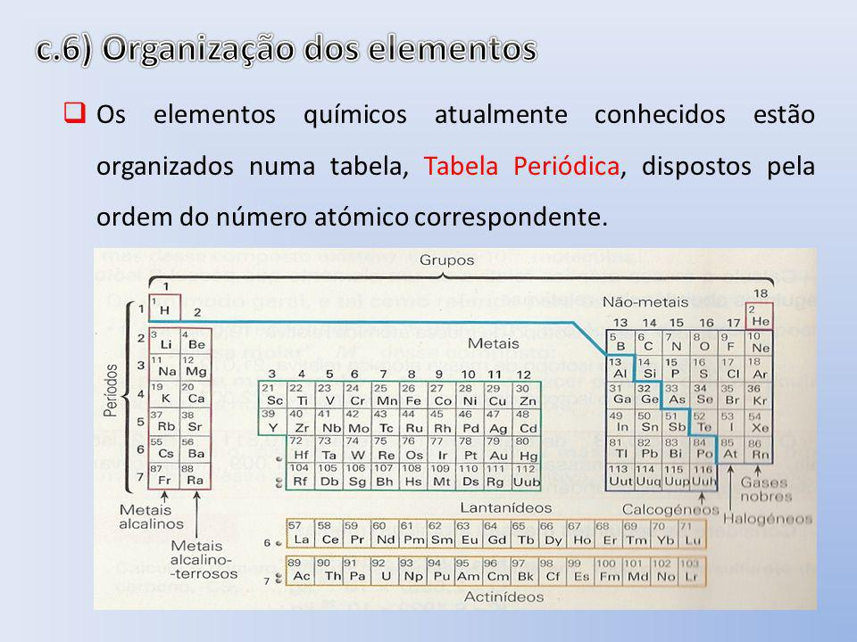 c.6) Organização dos elementos
