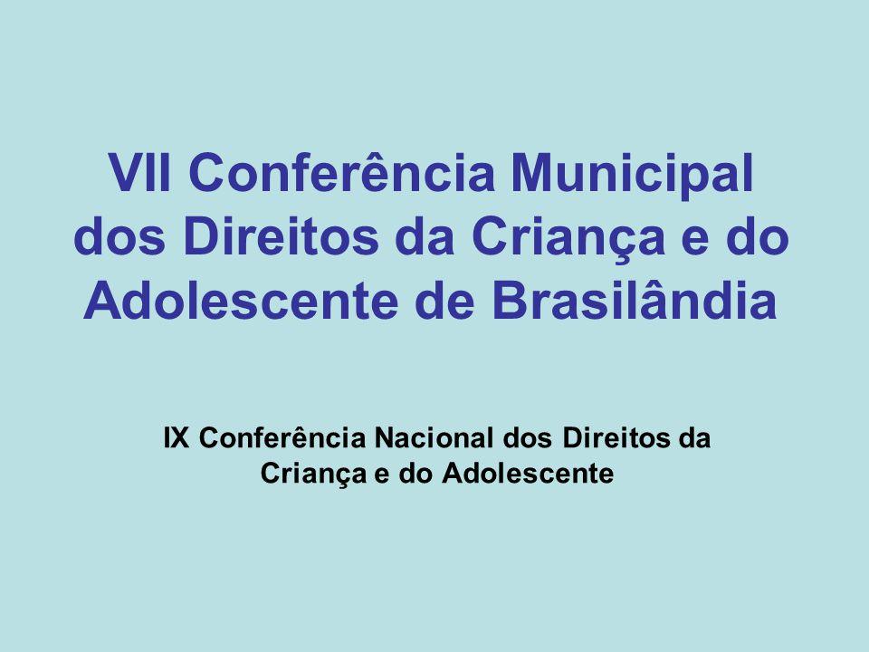 IX Conferência Nacional dos Direitos da Criança e do Adolescente