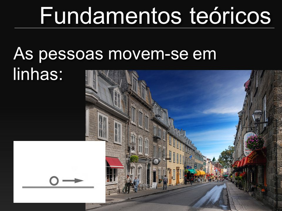 Fundamentos teóricos As pessoas movem-se em linhas: