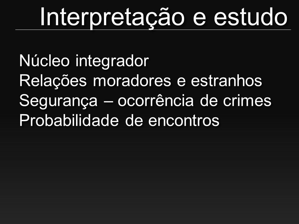 Interpretação e estudo