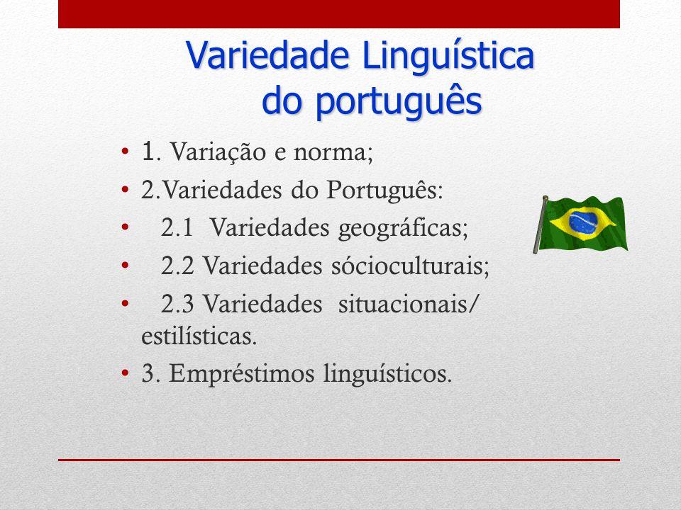 Variedade Linguística do português