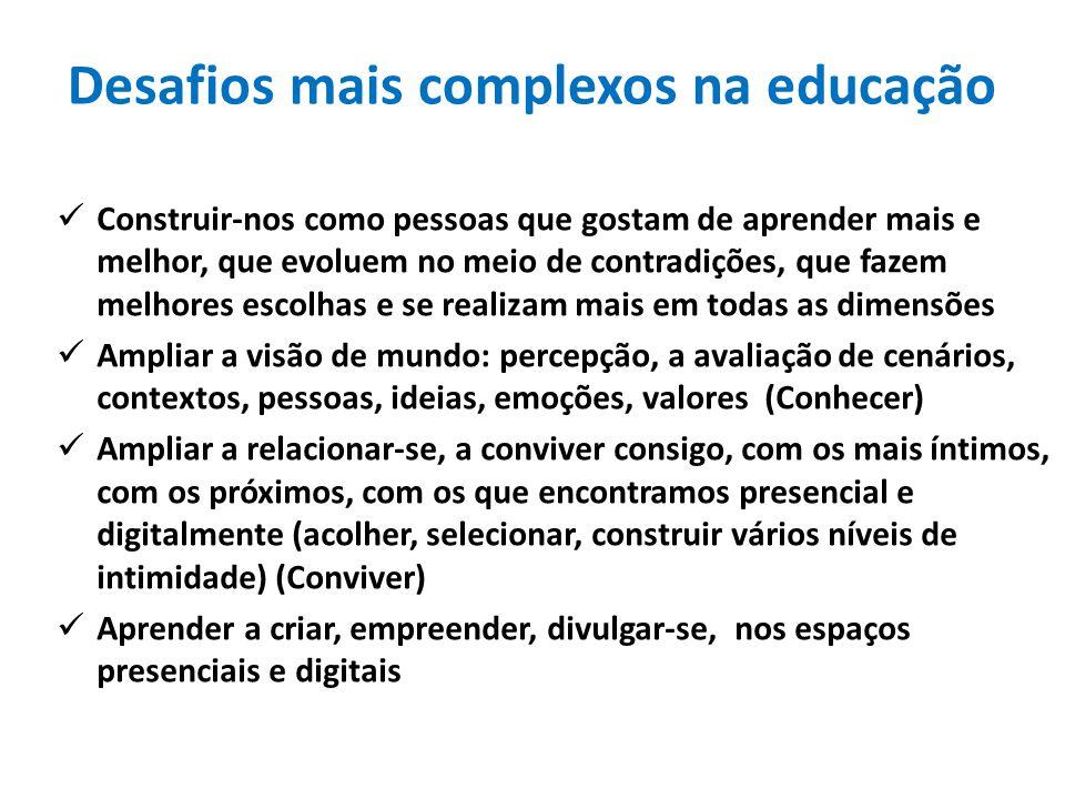 Desafios mais complexos na educação