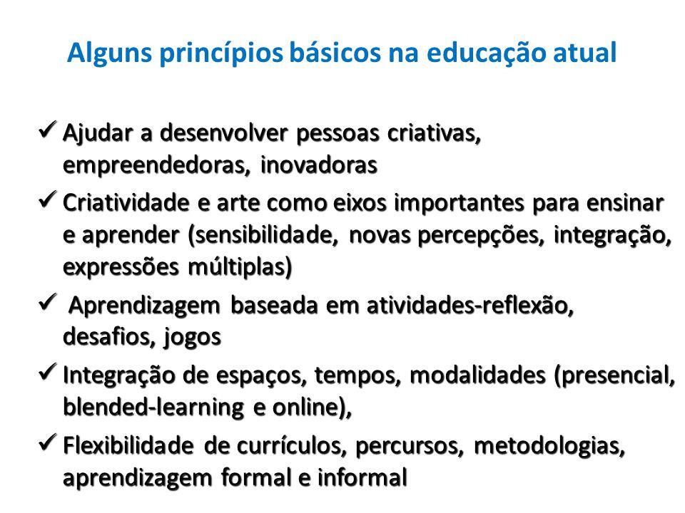 Alguns princípios básicos na educação atual