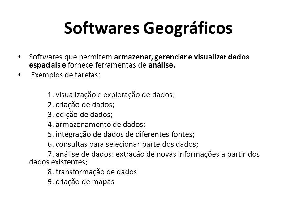 Softwares Geográficos
