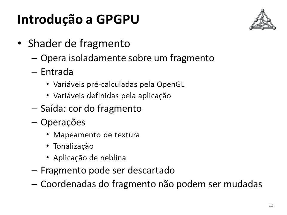 Introdução a GPGPU Shader de fragmento