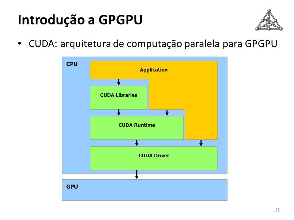 Introdução a GPGPU CUDA: arquitetura de computação paralela para GPGPU