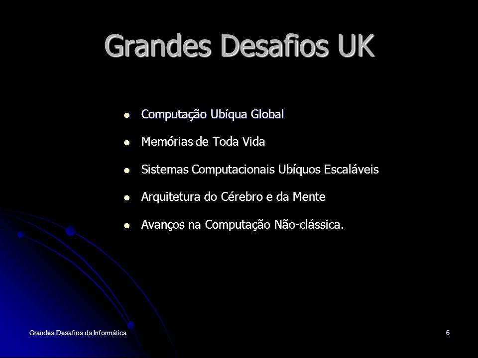 Grandes Desafios UK Computação Ubíqua Global Memórias de Toda Vida