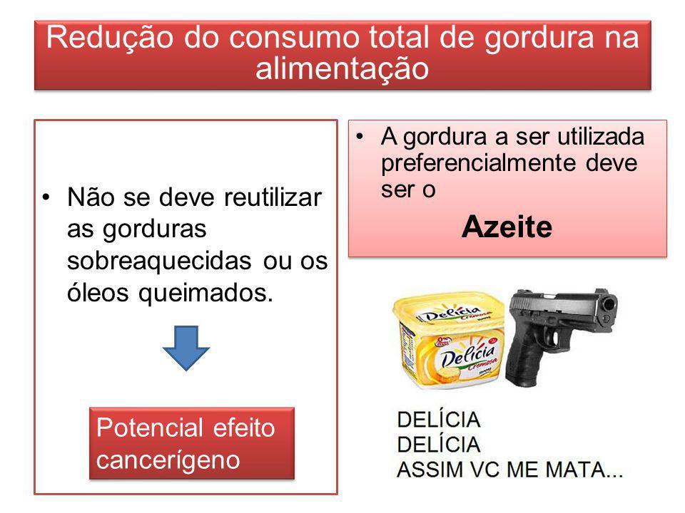 Redução do consumo total de gordura na alimentação