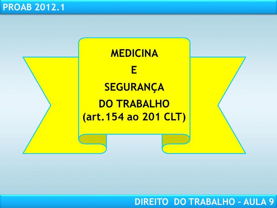 DO TRABALHO (art.154 ao 201 CLT)
