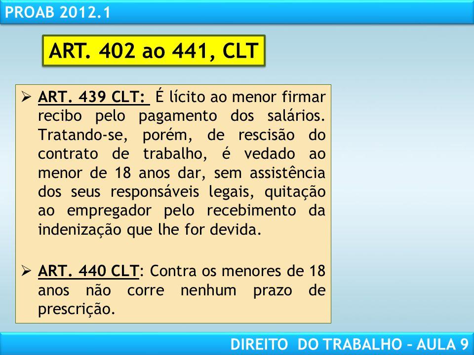 ART. 402 ao 441, CLT