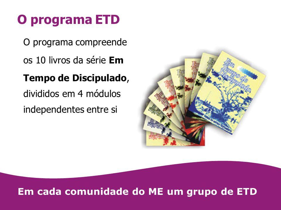 O programa ETD O programa compreende os 10 livros da série Em