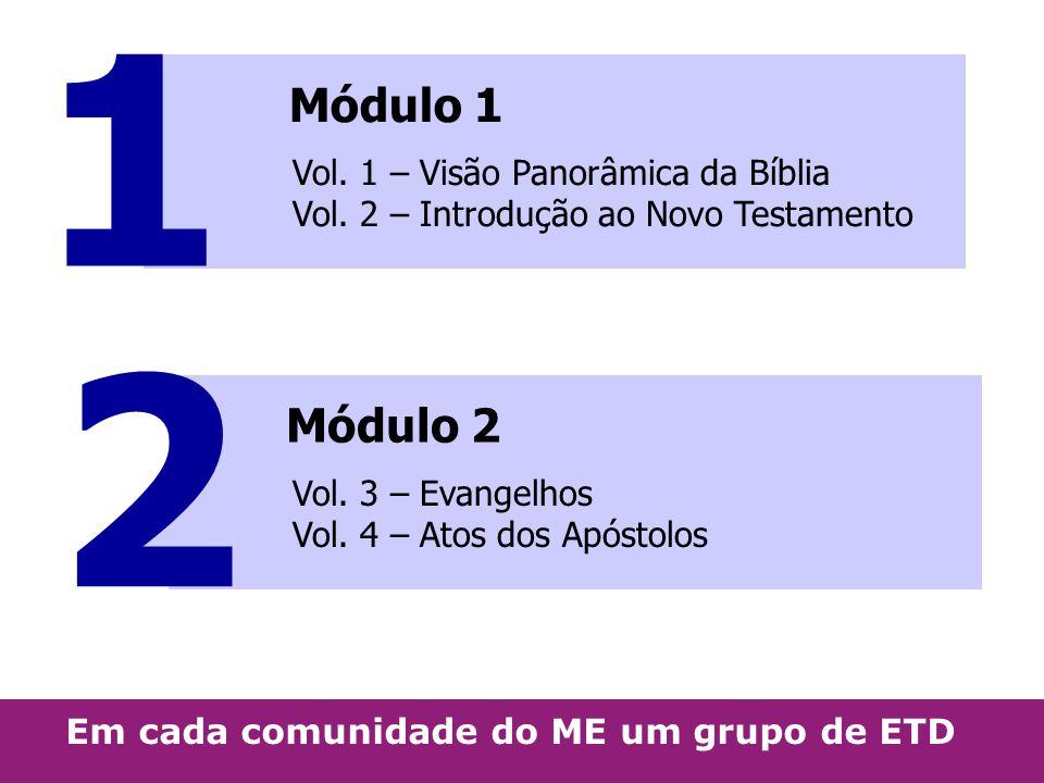 1 Módulo 1. Vol. 1 – Visão Panorâmica da Bíblia Vol. 2 – Introdução ao Novo Testamento. 2. Módulo 2.
