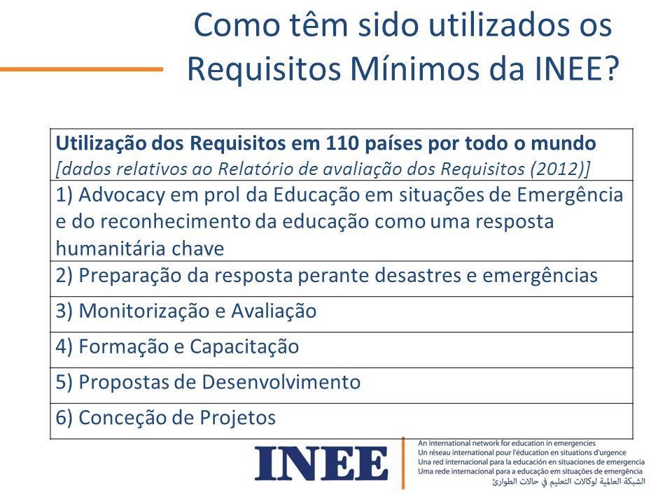 Como têm sido utilizados os Requisitos Mínimos da INEE