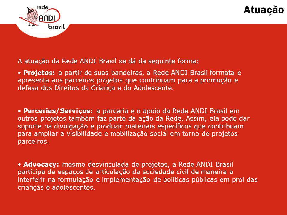 Atuação A atuação da Rede ANDI Brasil se dá da seguinte forma: