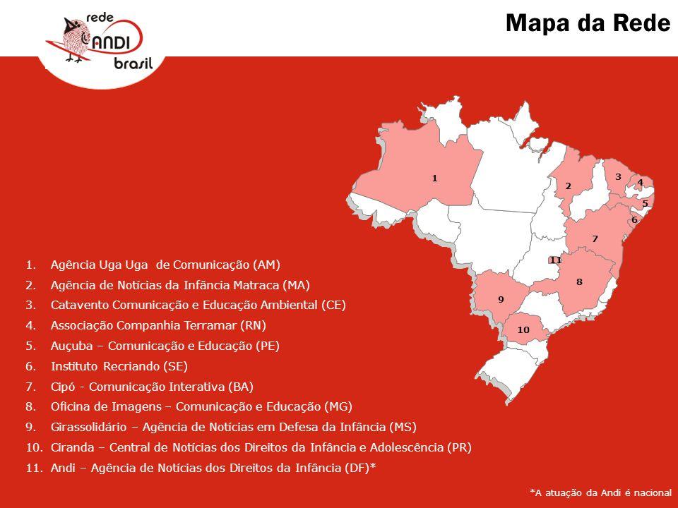 Mapa da Rede Agência Uga Uga de Comunicação (AM)