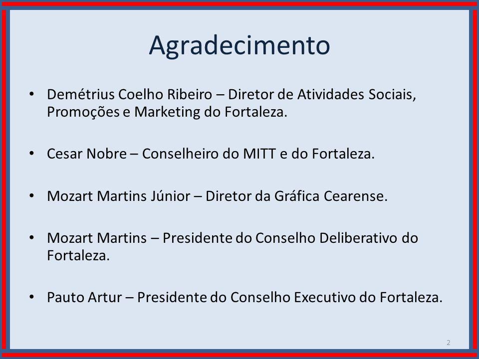 Agradecimento Demétrius Coelho Ribeiro – Diretor de Atividades Sociais, Promoções e Marketing do Fortaleza.