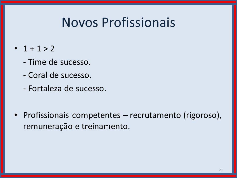 Novos Profissionais 1 + 1 > 2 - Time de sucesso.