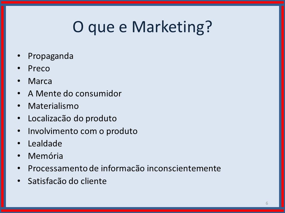O que e Marketing Propaganda Preco Marca A Mente do consumidor